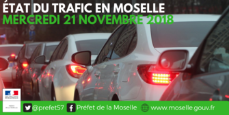CP – N°1 Manifestations en Moselle #21novembre Mercredi 21 novembre 2018  Point de situation à 11h00