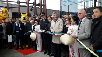 Inauguration de la foire internationale de Metz