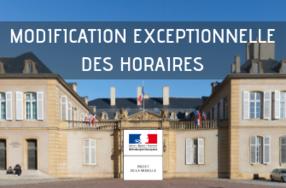 Modification Exceptionnelle Des Horaires D Acces Aux