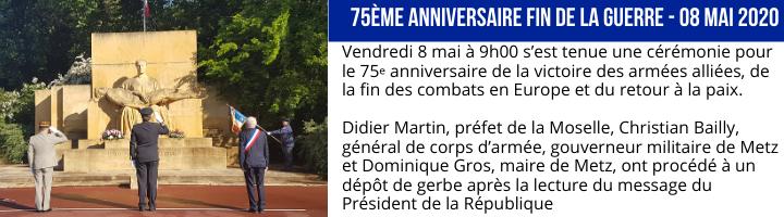 75 e anniversaire fin de la guerre 08 mai